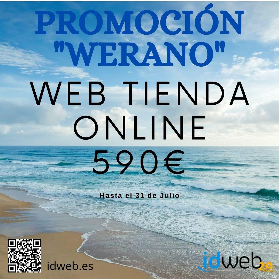 Promoción WERANO: WEB TIENDA ONLINE por sólo 590 Euros