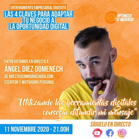 Entrevistamos en directo a Ángel Díez Domenech de noestascomounacabra.com