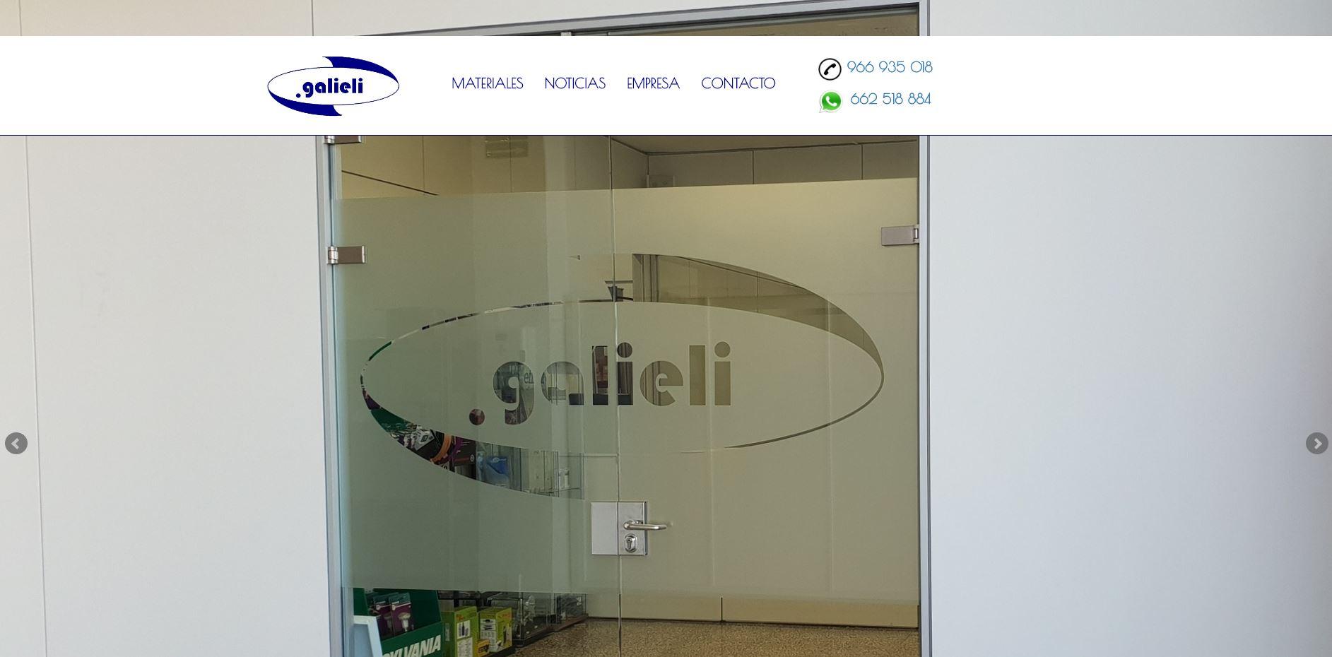 Nueva web remodelada a Galieli