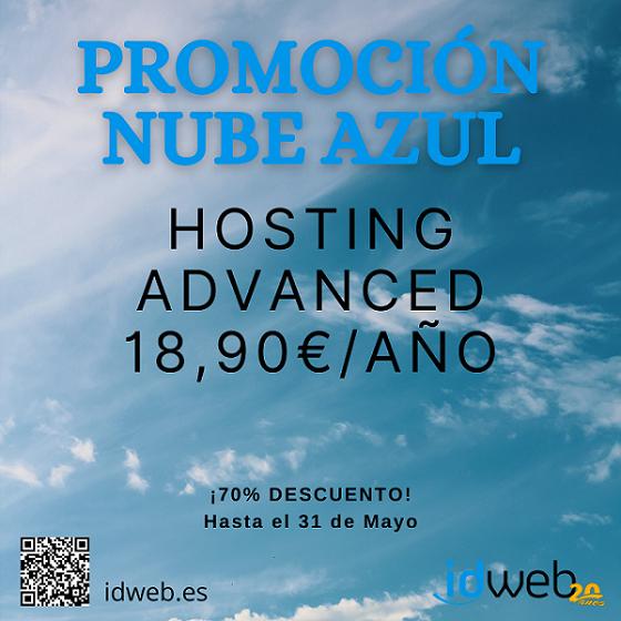 Promoción HOSTING NUBE AZUL este mes de MAYO