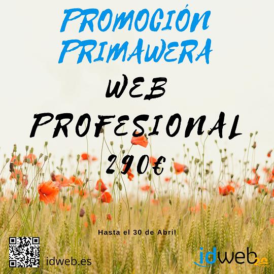 Promoción PRIMAWERA. WEB CON SECCIONES GESTIONABLES