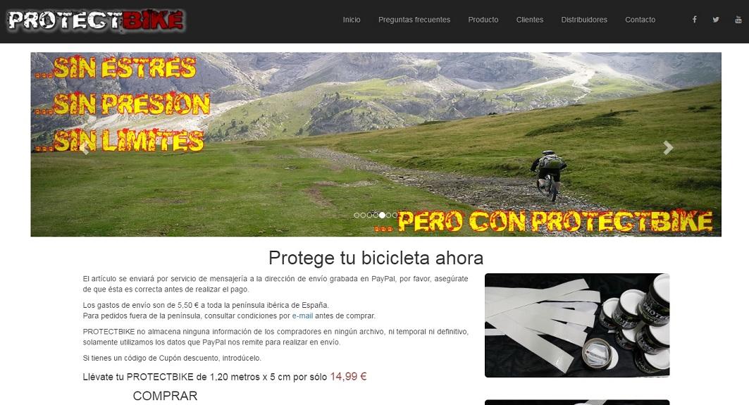 PROTECTBIKE. Nueva web para mostrar y vender este producto