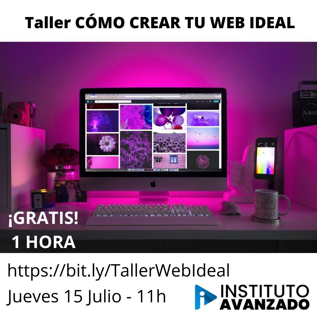 Taller CÓMO CREAR TU WEB IDEAL