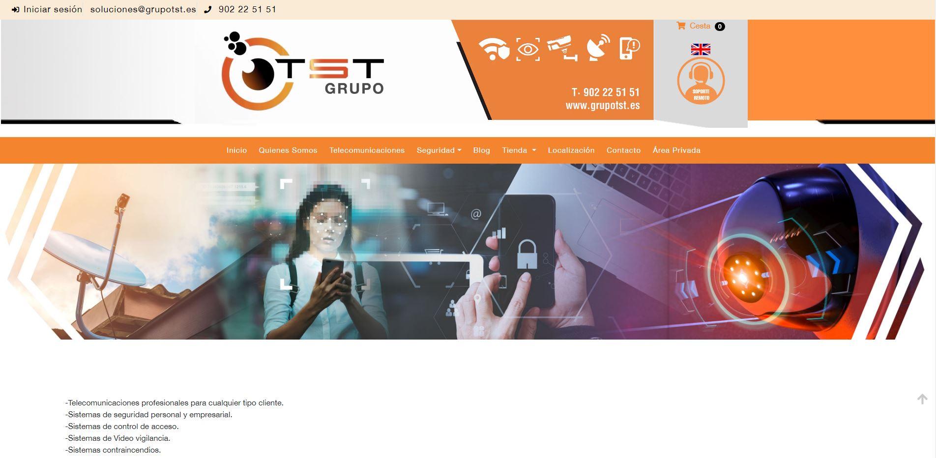 Grupo TST  - Sistemas de Seguridad y Alarmas